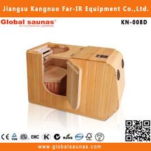 wooden infrared mini sauna room with ozone generator