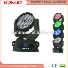 108x3w rgbw led stage lighting systems