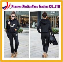 Cheap Hoodies Wholesale Fleece Lined Hoodies Women Sport Suit