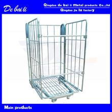 folding steel galvanized storage roll cage