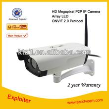 Mini Night Vision ONVIF 2.0 Network Security Surveillance Bullet 1.0 Megapixel Bullet IP Camera