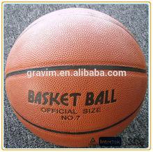 Cheap PU material match/train basketball size #7 6 5 3 bulk custom logo orange color