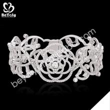 2014 new trendy flower design silver bracelet festival