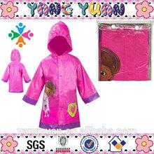 Cute Raincoats Printed Little Girls' Hugs Cuddles and Kisses Raincoat