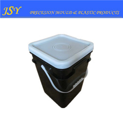 high quality 20L black square plastic bucket for food