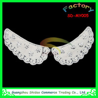 Latest design embroidered lace collar applique for bridal wedding dress