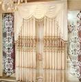Mais recente projetos de cortina luxo janela da cortina de laço tecidos turquia
