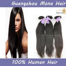 Hot selling AAAAA+ silky straight wave 100% raw unprocessed natural brazilian human hair