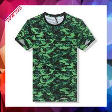 wholesale fitness custom print anti-shrink green t-shirts