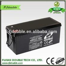 long span life lead acid 12v 200ah deep cycle battery