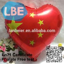 advertising custom heart shape Chinese flag balloon