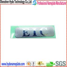 Custom logo sticker electroform nickel sticker, electroforming nickel metal logo with glue