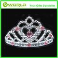 atacado moda princesa cristal austríaco rhinestone tiara pequeno pente de cabelo coroa