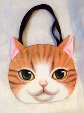 Japanese fashion handbags shoulder bag stereo cat pattern