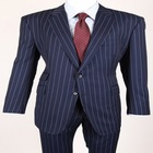 2014 Summer Top Quality New Style Wedding Occsaion Two Pieces Dark Blue Striped Handmade Wholesale Men Suits