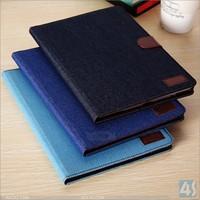 alibaba wholesale 2014 western jean cowboy wallet cover case for ipad 5