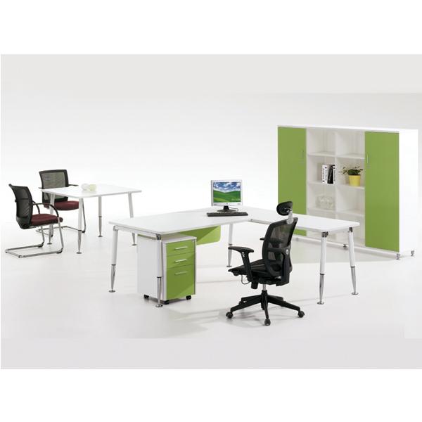 l shape modern small office desk size