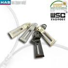 10# brand custom design silver metal brand zipper puller