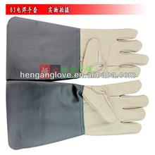 Splash proof pigskin long-sleeved welding gloves