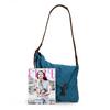 2014 Blue canvas smart cell phone shoulder bag