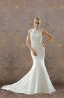 Stuning Mermaid Bateau SweepTrain/Brush Train Lace Wedding Dress[RBL30632]