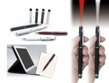 2014 Lastest laser pointer led light ball pen pda stylus pen