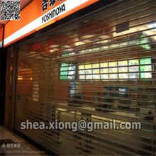 transparent film rolling door, pc rolling shutter,the shop doors