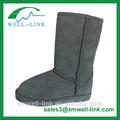 hotsale cálido forradas de piel de invierno la nieve suede botas de cuero