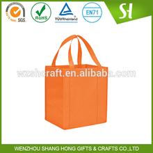 80gsm nonwoven custom printed 2 strip blank tote bag