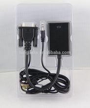high quality vga hdmi lvds edp hdmi to vga + rca x 3 cable converter 1080p