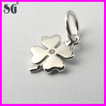Christmas promotion gift 925 sterling silver four-leaf clover pendant with diamond