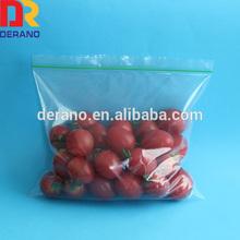 LDPE clear zipper polythene bag for food