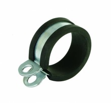 Single pipe clamps M-7 with inner rubber