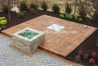 New design wpc composite decking floor, hot sale wpc wooden floor, wpc waterproof floor tiles prices