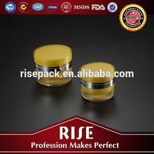 Round plastic acrylic jars food storage container