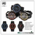 resistente al agua deporte de silicona tipo de acero inoxidable mecánica reloj para los hombres
