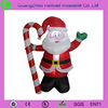 inflatable christmas father with candy cane