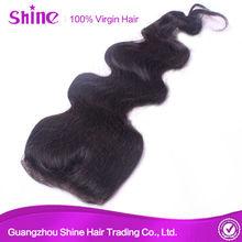 6a grade unprocessed virgin human hair malaysian body wave closure