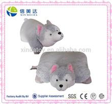 Gray Wolf Soft Plush Pillow Children Pillow