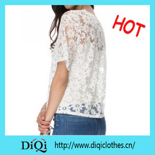 2015 fitted sexy European Round Neck White Summer lady / female clothes / garments