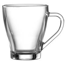 glass coffee mugs with handles made in China wholesale price bulk glass coffee mug glass tea mug