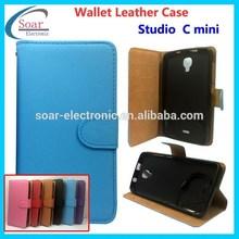 Mobile Phone Housing PU Leather Case For BLU Studio C Mini Flip Cover