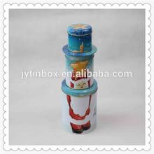 China wholesale three pieces printed with snow metal tin box