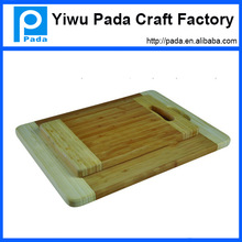 Hot Sale Bamboo Wood Food Preparation Cutting Board Set With Groove & Handle