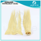 China qingdao wholesaler Russian remy human hair skin weft pu hair extension wavy in stock