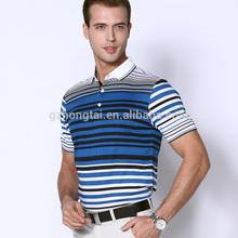 casual design de moda camisa polo listrada