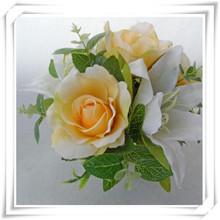 2014 new design pu material yellow artificial flower
