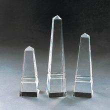 2014 pyramid shape custom cut K9 crystal blank crystal