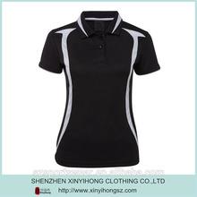 OEM/ODM high quality Slim fit Ladies 100% polyester Dry fit golf shirts