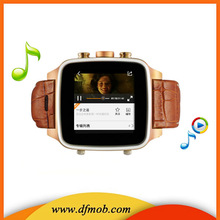 1.54 INCH Touch Screen Unlocked Bluetooth MTK6572 Dual Core WIFI GPS Android 4.2 3G Watch Cellphones S008
